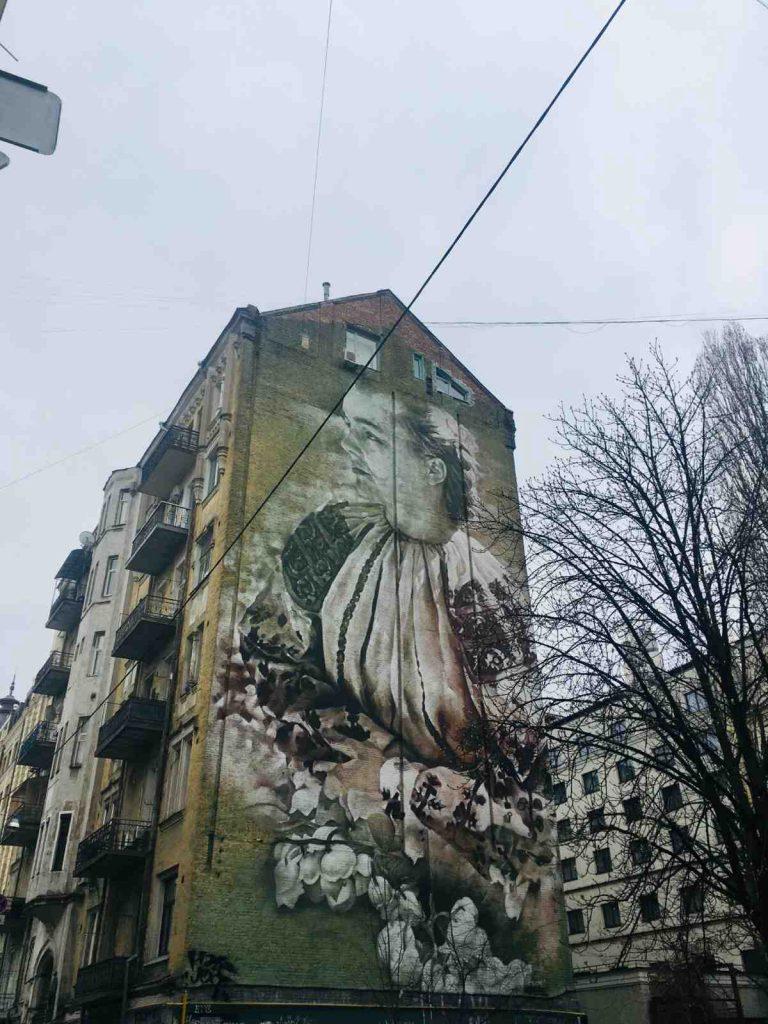 Graffiti v kyjevských uliciach