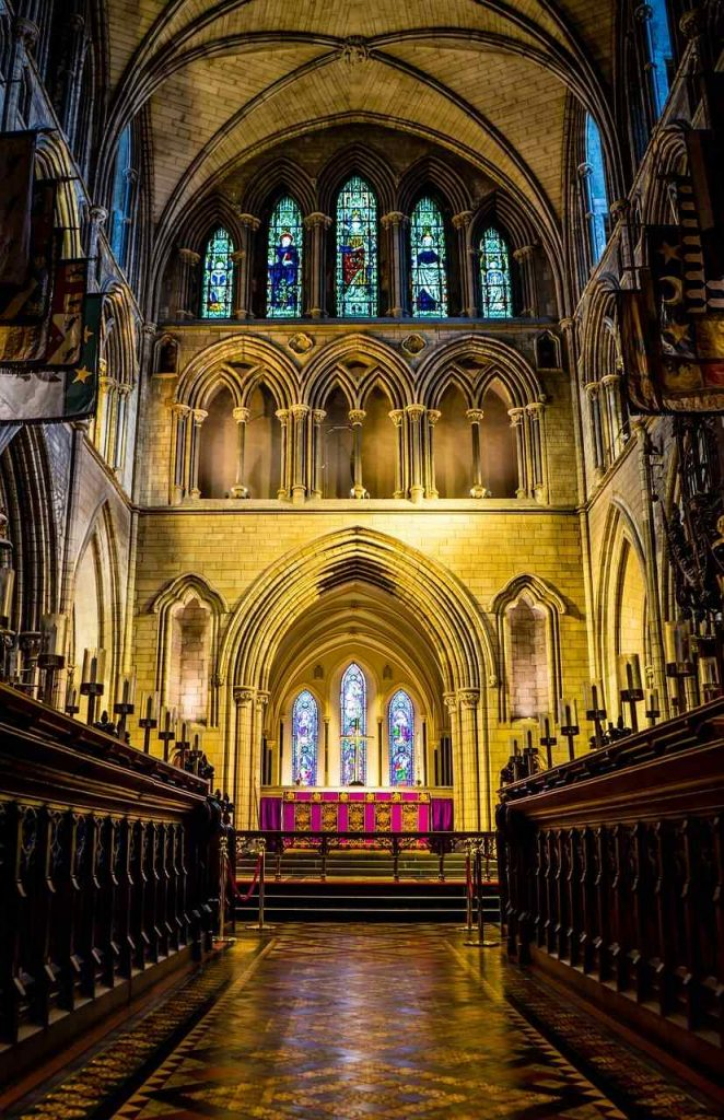 Interiér katedrály svätého Patrika, Dublin